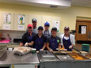 WLC Freshman, Nick Kennedy, at the Community Kitchen in Keene