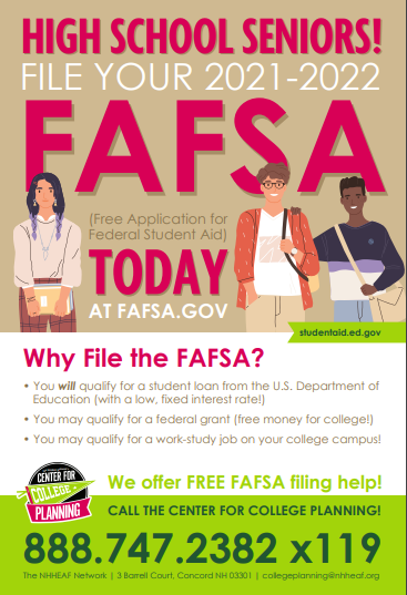 File your FAFSA today!