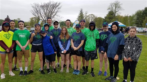 WLC Track Team Joins Harry's Heroes for the Great Strides Walk
