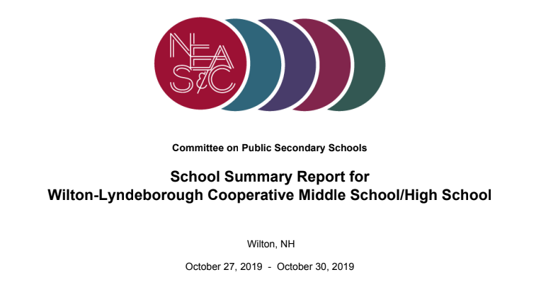 NEASC Accreditation Report
