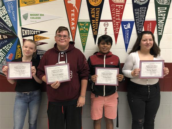 Students of the Month Announced