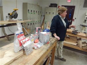 Dr. Annamarie Pennucci of the Seacoast Woodturners Club/Granite State Woodturners