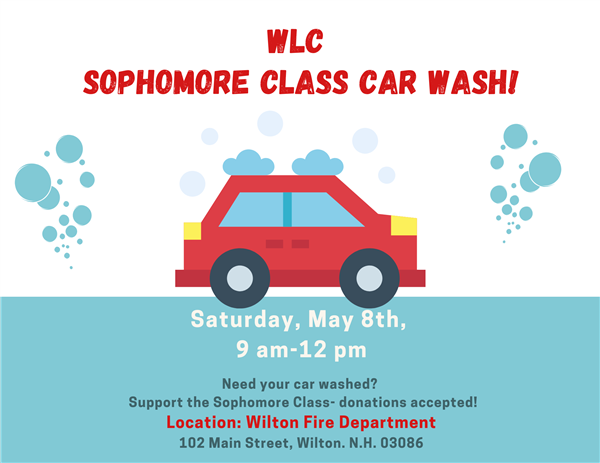 Sophomore Class Car Wash- May 8th