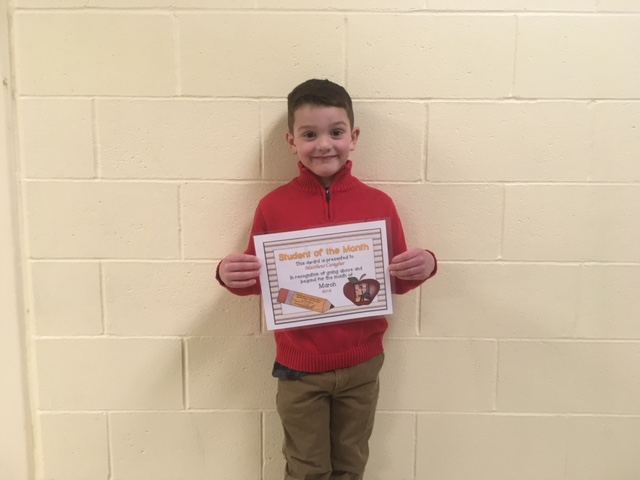 March Student of the Month